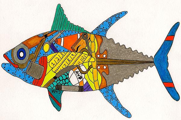 CHRIS ATKINSON FISH DRAWING