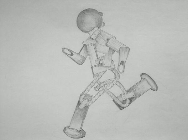 CHRIS ATKINSON RUNNING MAN DRAWING