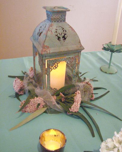 lantern as wedding centerpiece