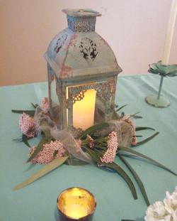 lantern as wedding centerpiece