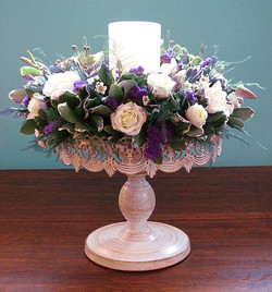 candle ring wedding centerpiece