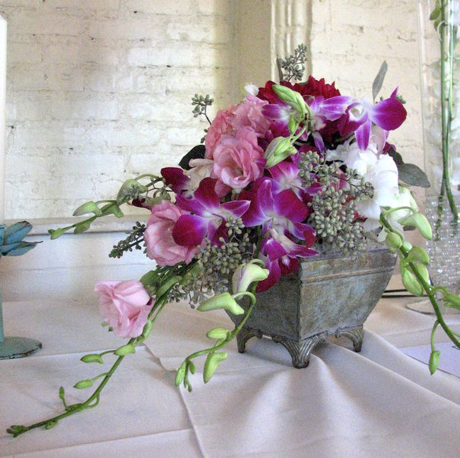 wedding bouquet as centerpiece