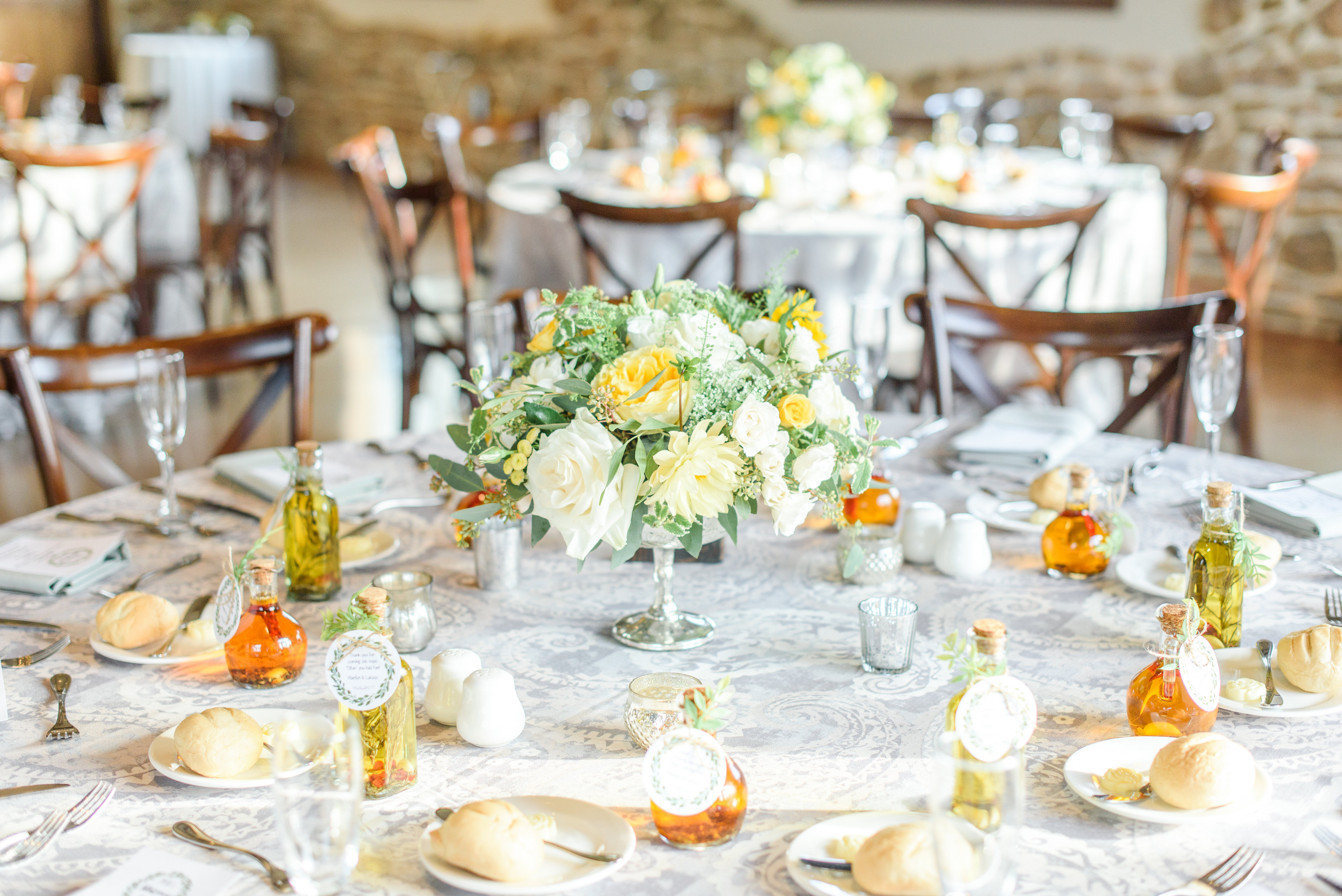 low table arrangement