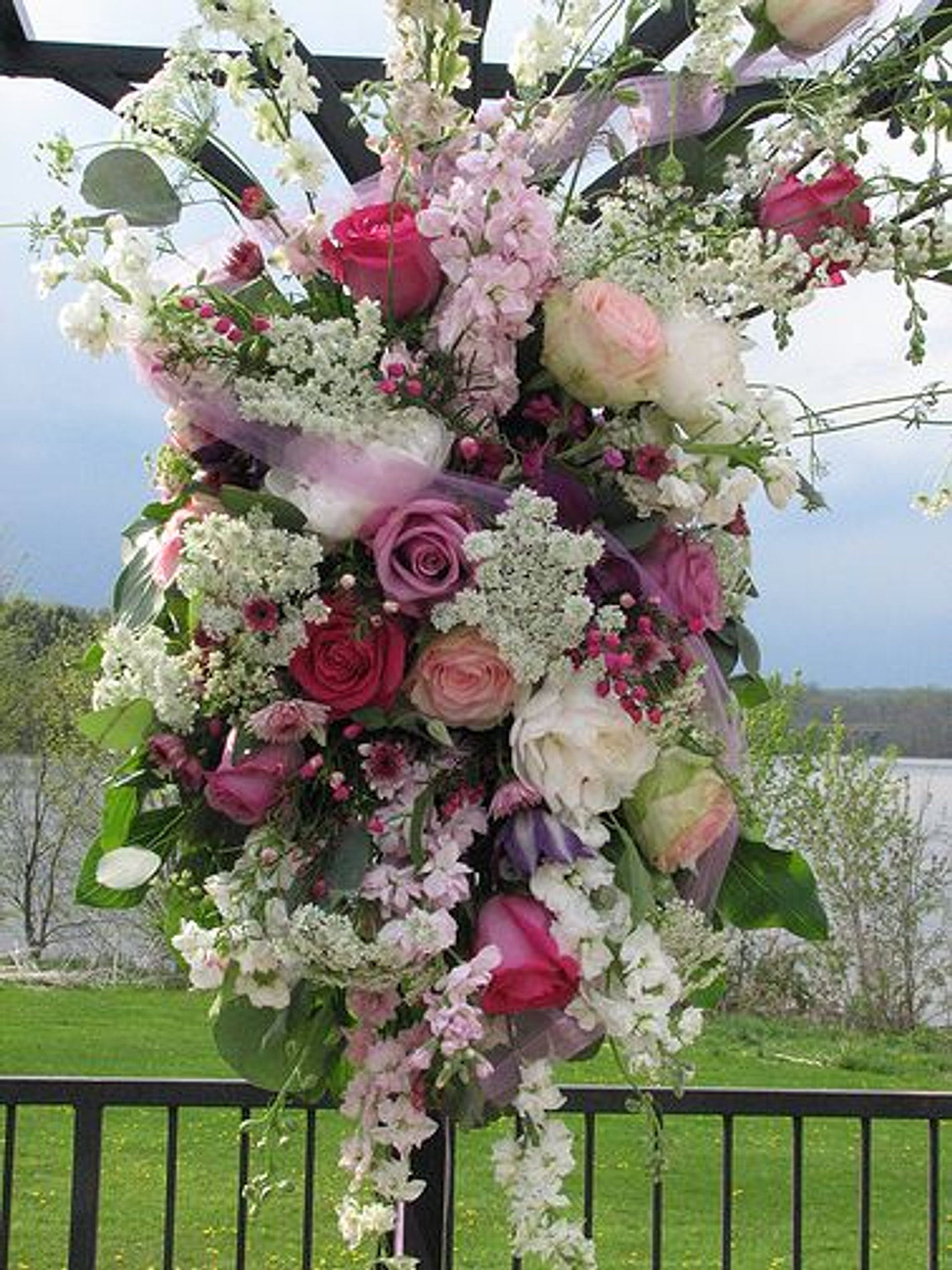 Flowers For Wedding Arbor