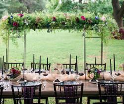 lush raised tablescape