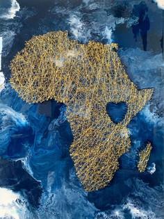 Africa String Over Resin