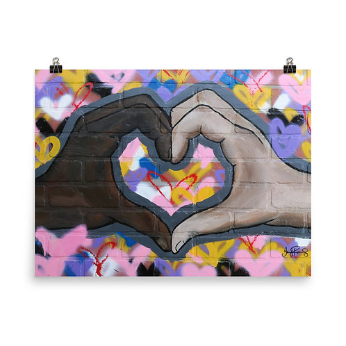 """""""The Love You Give"""" Photo paper poster"""