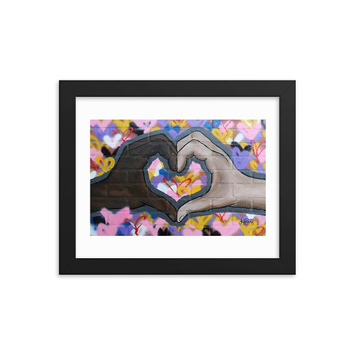 The Love You Give Framed photo paper poster