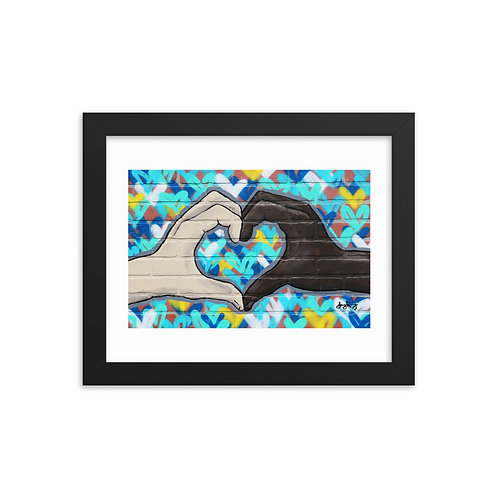 The Love You Give Too Framed photo paper poster