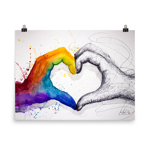 """Love Different"" Photo Paper Poster"