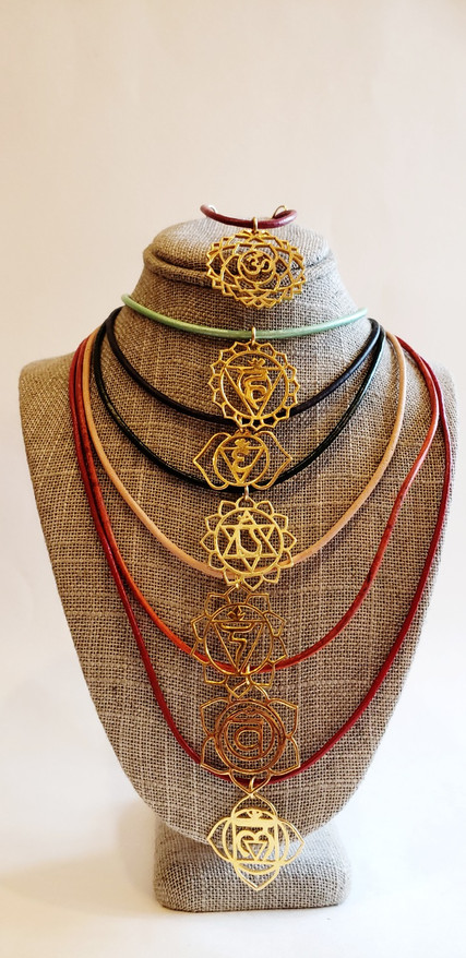Gold Chakra and Leather