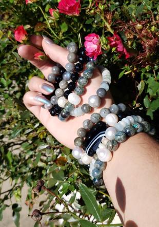Gemstones and Pearls Beacelets