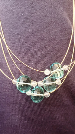 Moldavite and Gold Necklace