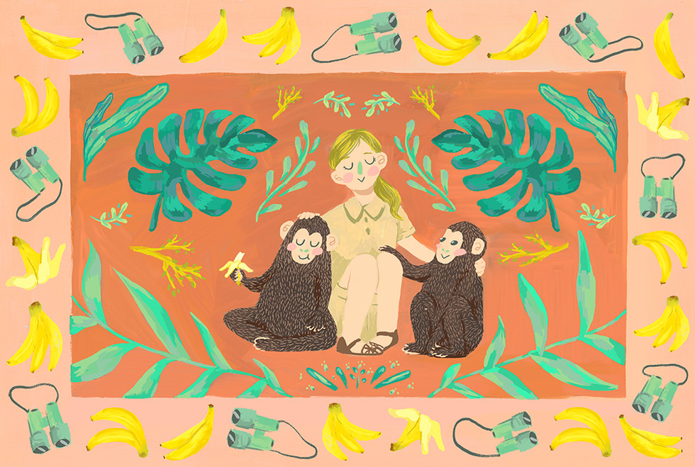 Jane Goodall Illustration