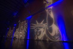 Lighting design party, event lighting decor, uplighting for party, up lighting, gobo projection, video projection richmond, video projector, led lighting, dj service,