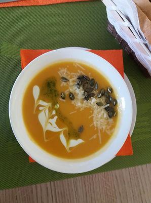Крем супа от тиква с батат
