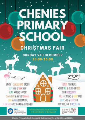 Chenies Christmas Fair Flyer - double sided