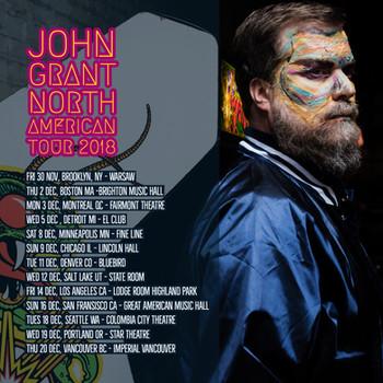 JG north american tour poster. Socials