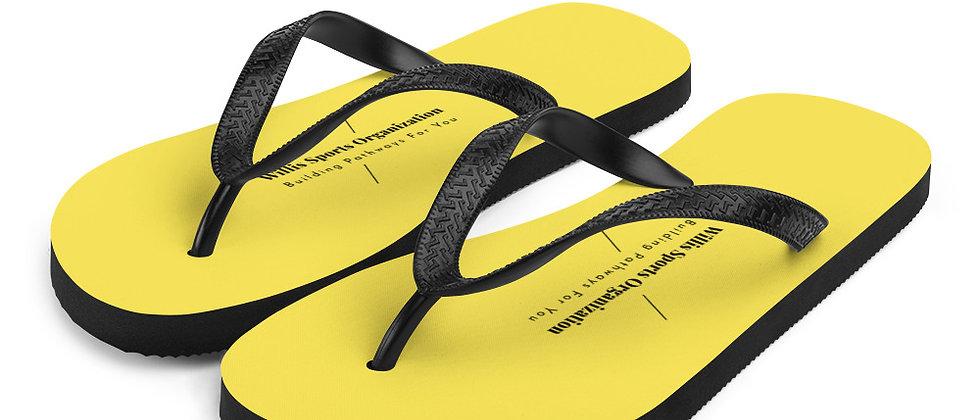 WSO Yellow & Black Flip-Flops