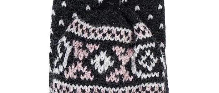 Ladies Fairisle Thermal Converter Gloves