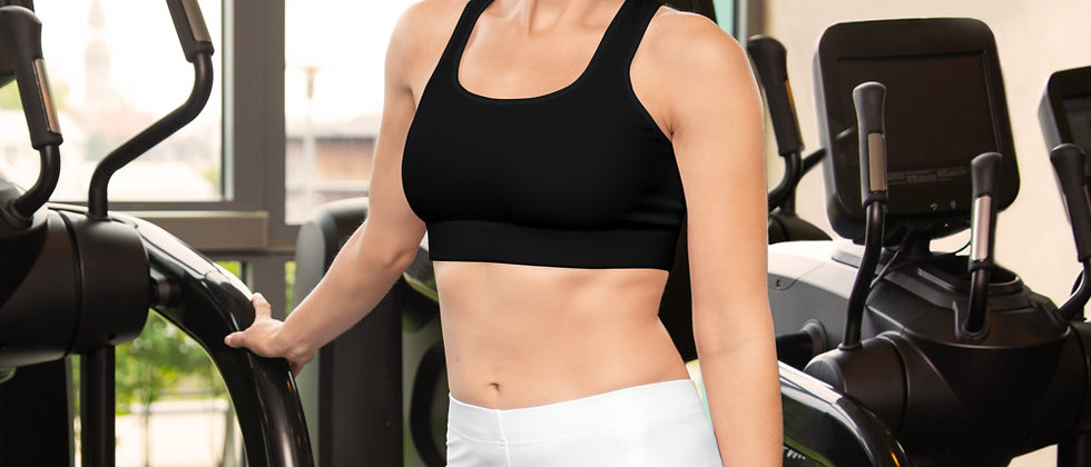Building Pathways Black Sports bra