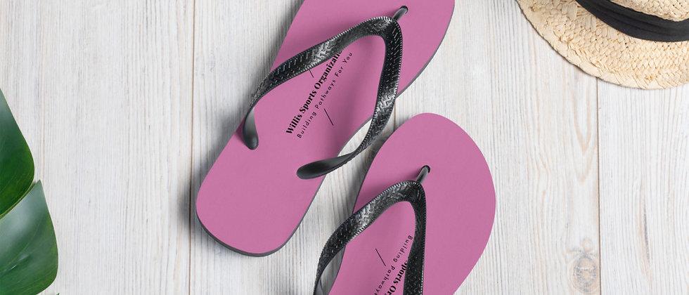 WSO Pink & Black Flip-Flops