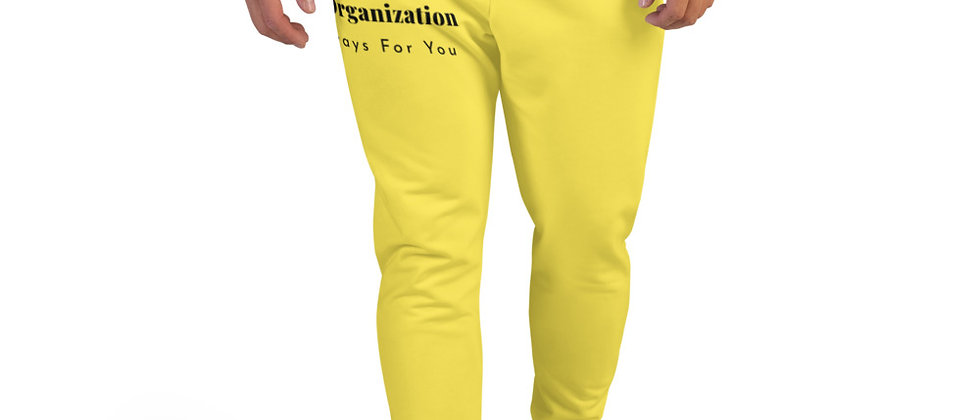WSO Building Pathways Men's Yellow Joggers