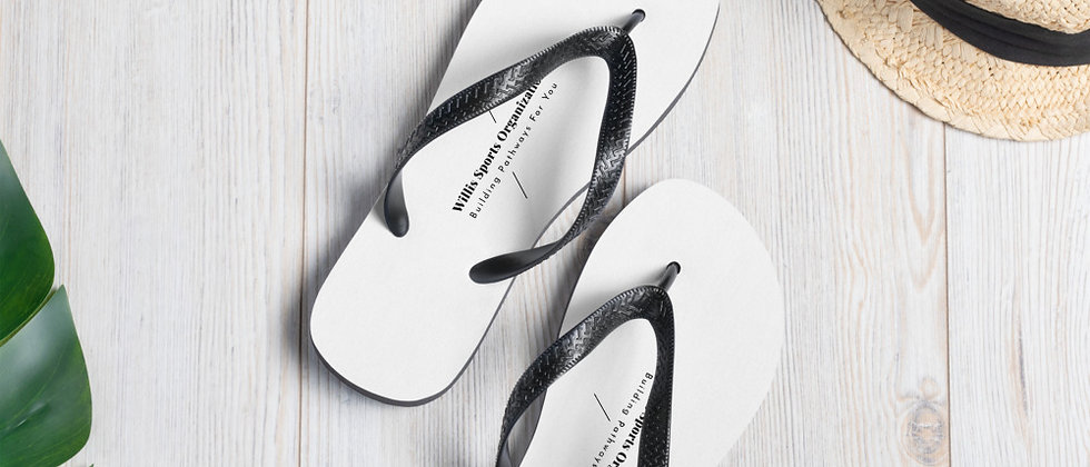 WSO White & Black Flip-Flops