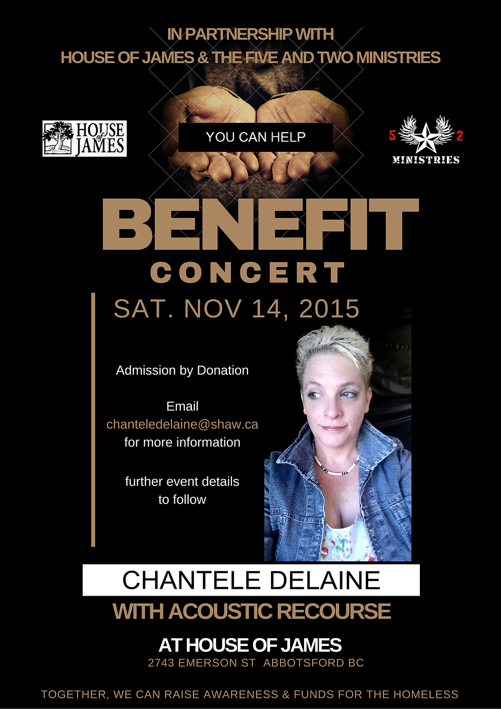 Benefit for the Homeless of Abbotsford BC