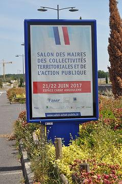 affichage abribus salon des maires angoulême