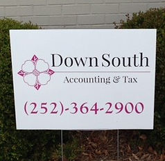 yard sign for tax business