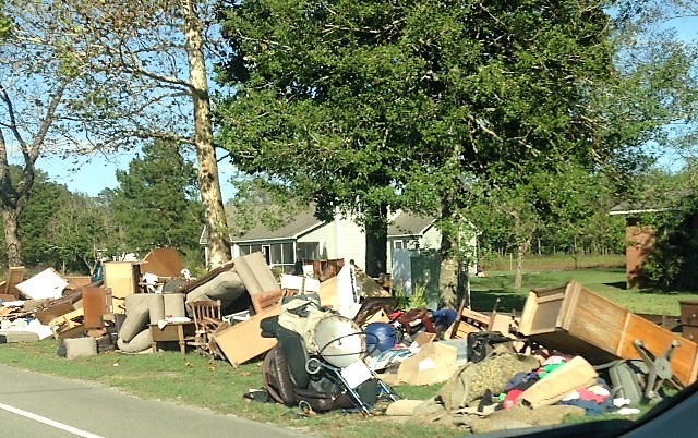 household belongings destroyed by Hurricane Florence