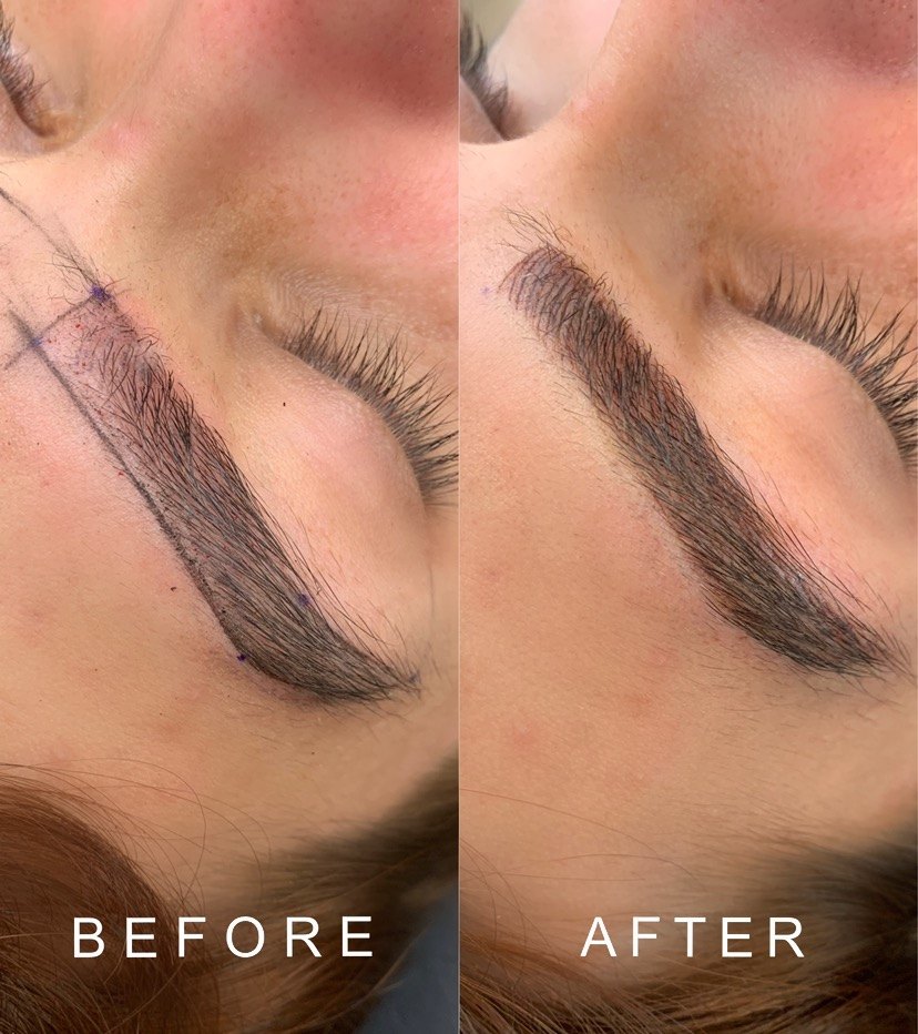 Men's groomed brow. Nano Hairstrokes.