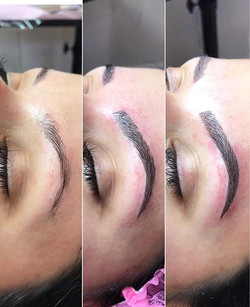 Before, Strokes Only, Combo Brows Microblading Chico