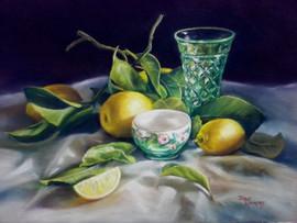 Lemons and green glass 1 (640x480).jpg