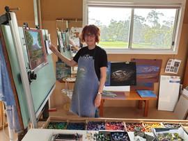 Julie Kok in her studio