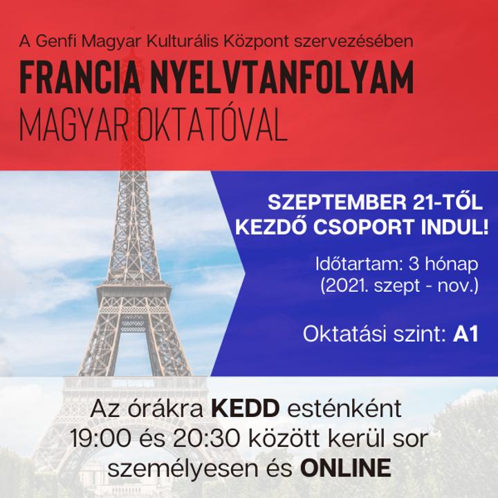 Kezdő (A1 szintű) francia nyelvtanfolyam magyar oktatóval