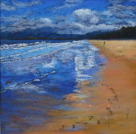 Along the Beach, Port Douglas_Pastel.JPG