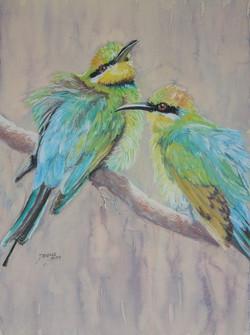 Bee Eaters Pastel&Watercolour_6jp