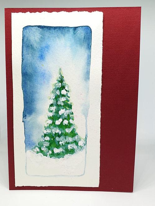 Kézzel festett karácsonyi képeslap / Hand Painted Xmas Postcard