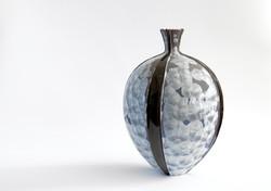 grey andblack kimono vase