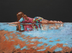 Cooling off in the Shallows_Pastel