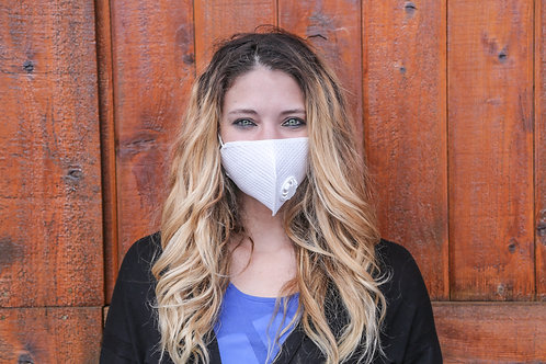Protective Face Mask w/Breather Valve - Free shipping for orders 4 or more -