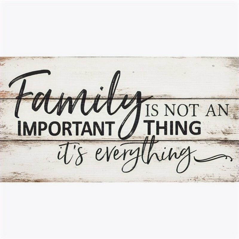 Family Is Not An Important Thing It's Everything Pallet Decor