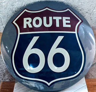 Route 66 Round Sign