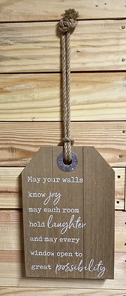 Decorative Joy & Laughter Wood Sign Wall Decor