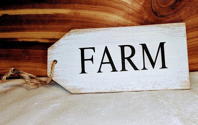 Farm Wooden Tag