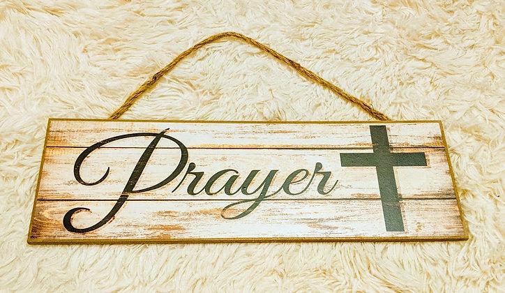 Prayer Wooden Sign