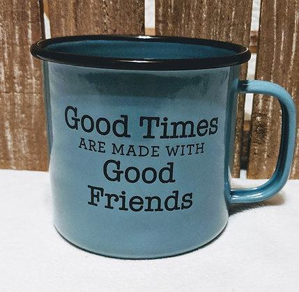 Good Times Enamelware Mug