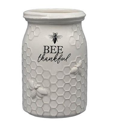 """""""BEE THANKFUL"""" UTENSIL HOLDER"""